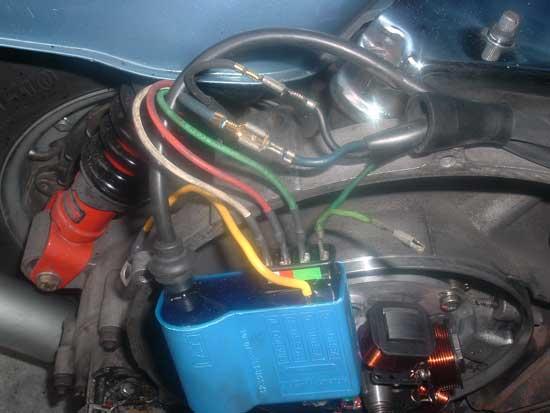 Schema Elettrico Vespa Px 125 : Accensione elettronica su p x