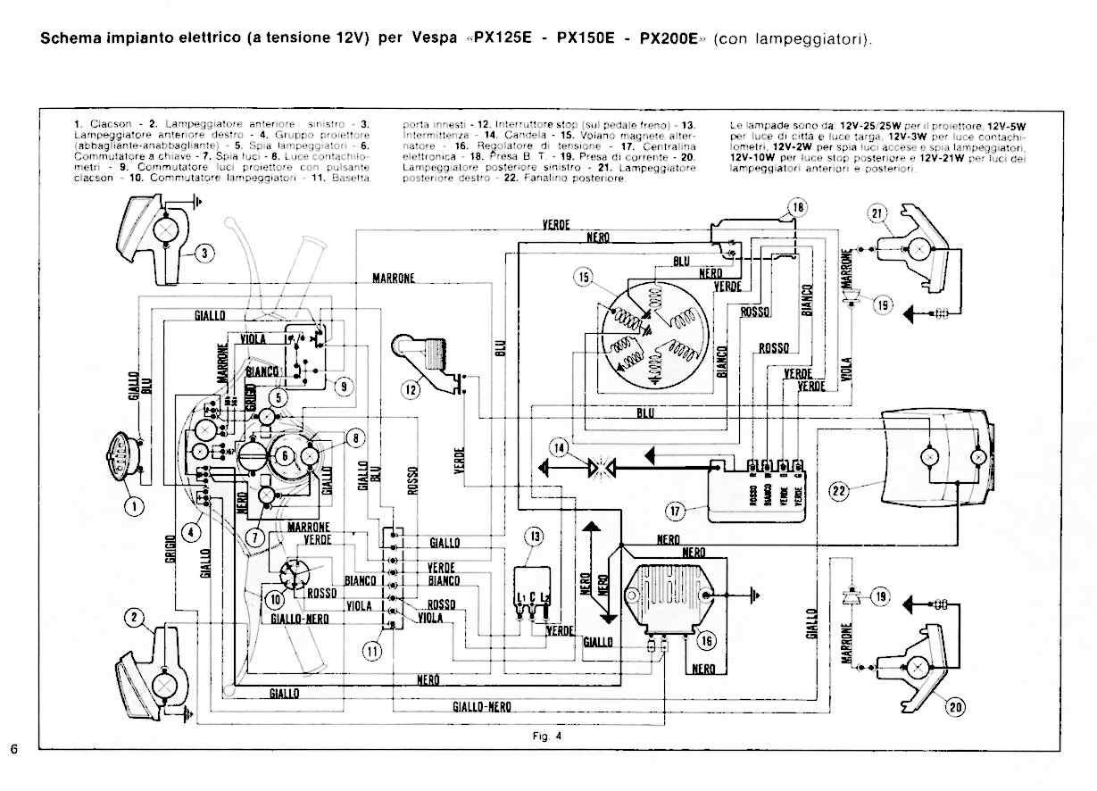 Schema Elettrico Vespa Et3 : Accensione elettronica su p x